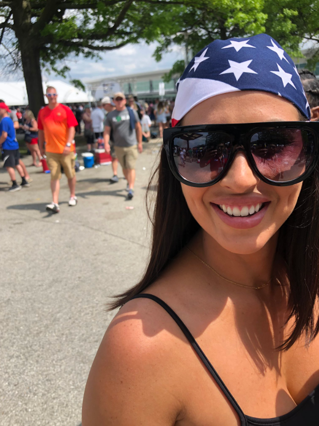 American flag head band Carb Day.PNG