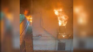 Large fire in Bronx apartment building in Mott Haven