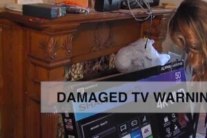 Damaged TV warning: never wait to open the box