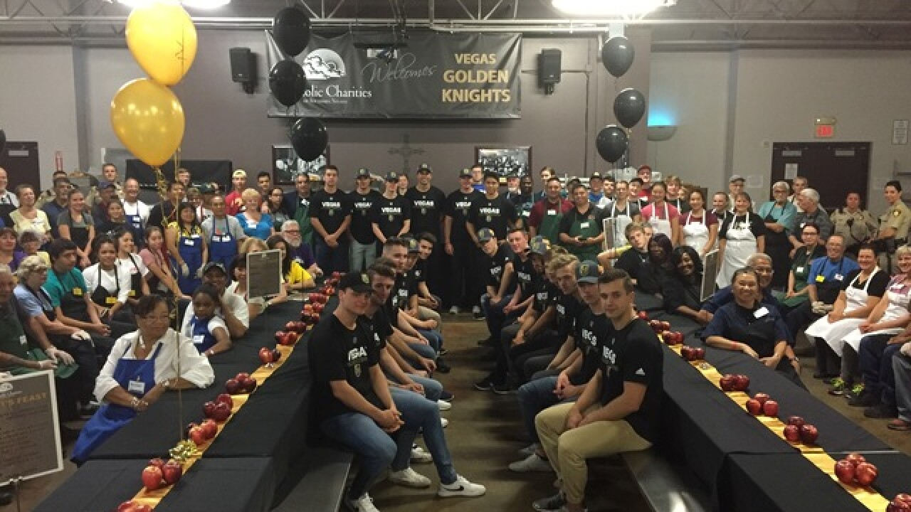 Golden Knights prospects serve meals at charity