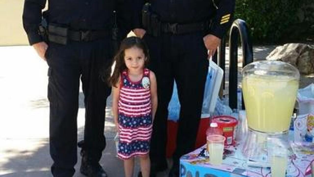 'Free lemonade for local police'