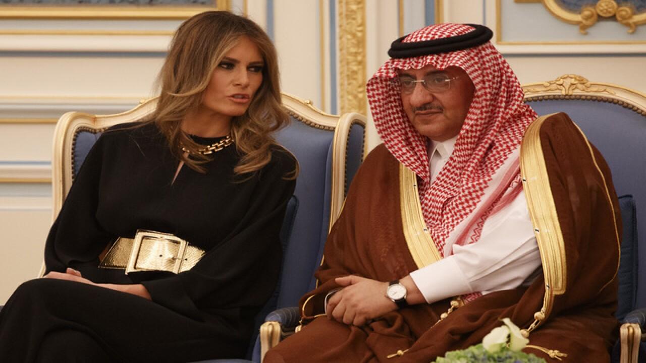Trump basks in lavish Saudi welcome