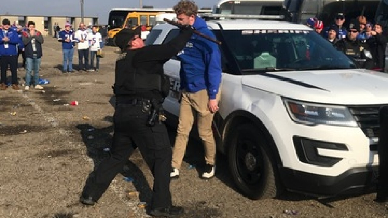 """Erie County Sheriff calls convicted deputy who assaulted a Bills fan a """"hero"""""""
