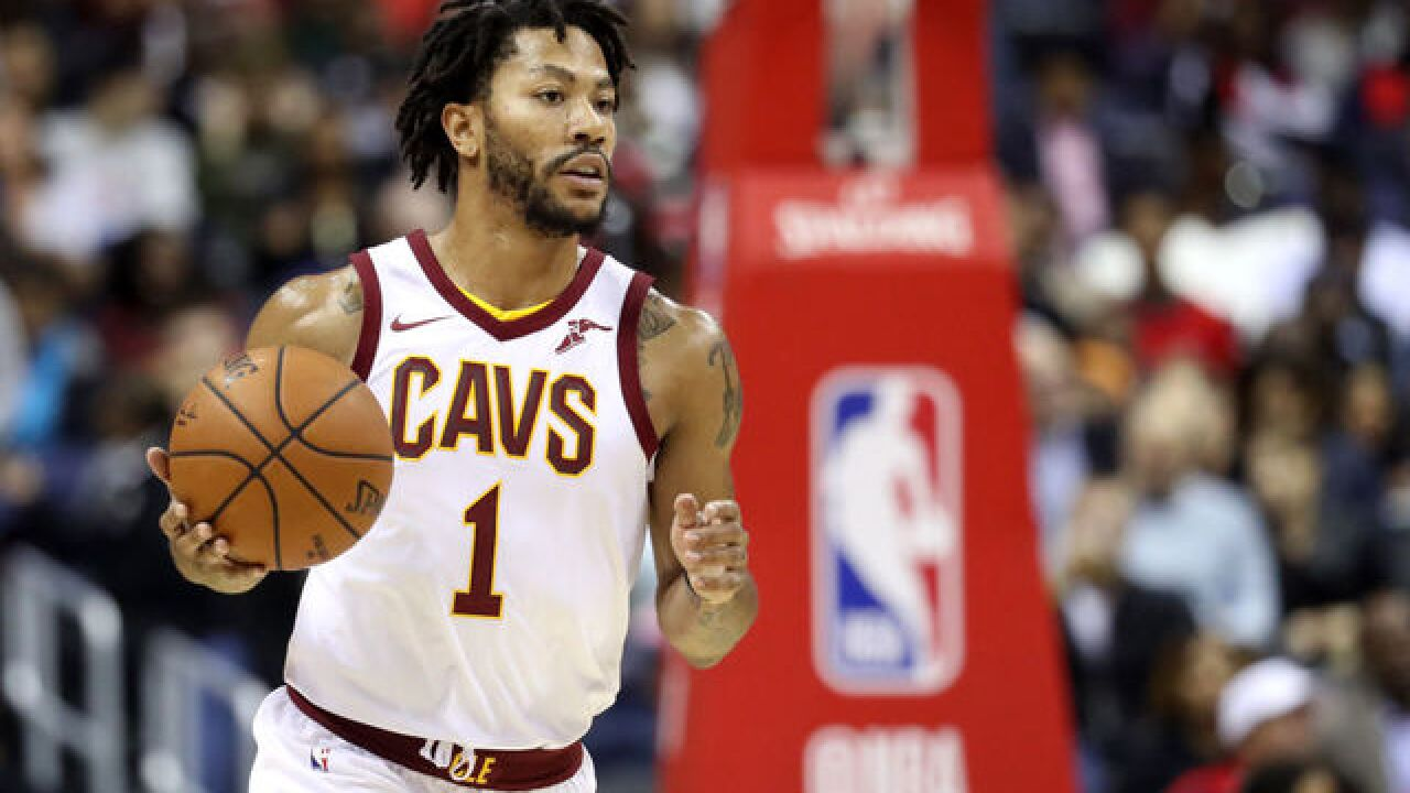 Derrick Rose rejoins Cleveland Cavaliers, resumes treatment for ankle injury