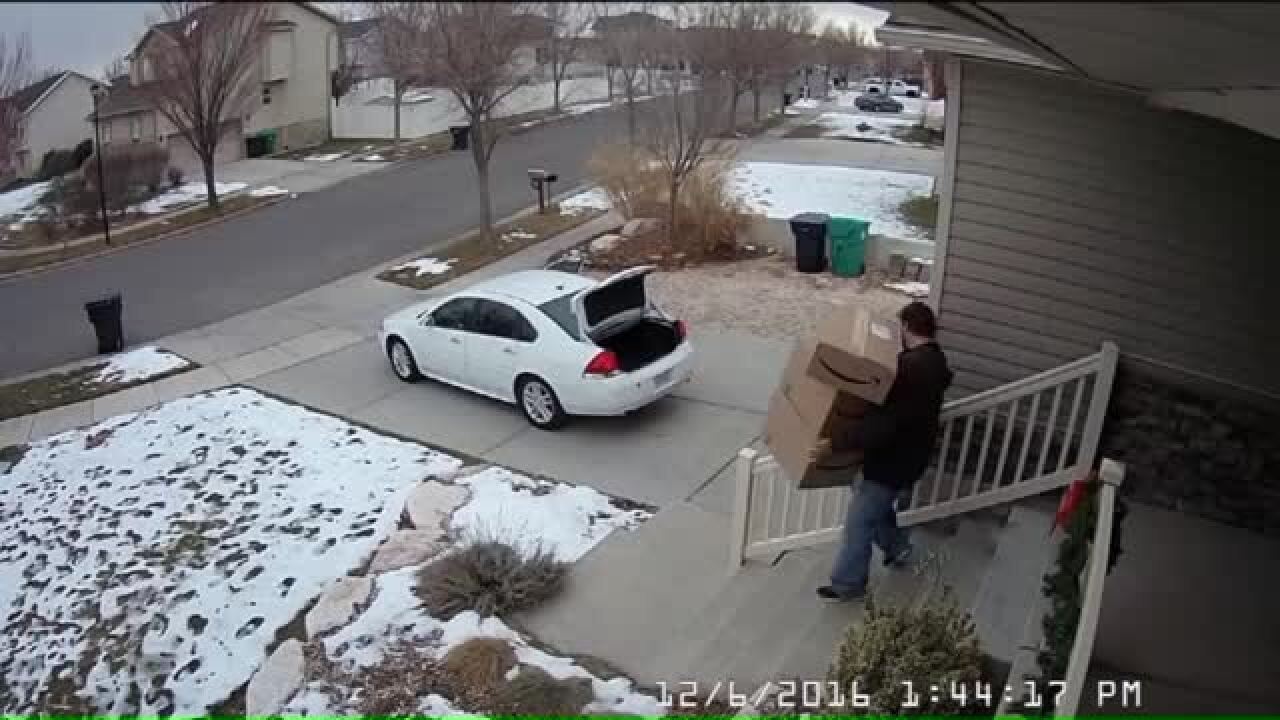 Woods Cross police warn residents to be alert for signs of package thieves