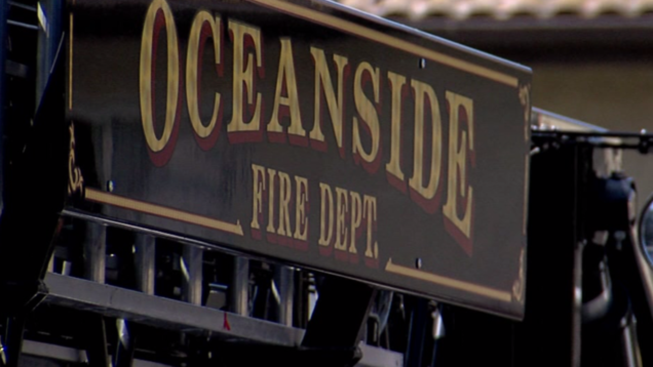 Fire damages Oceanside home
