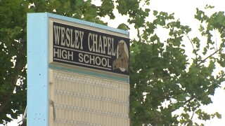 Wesley Chapel High School sign