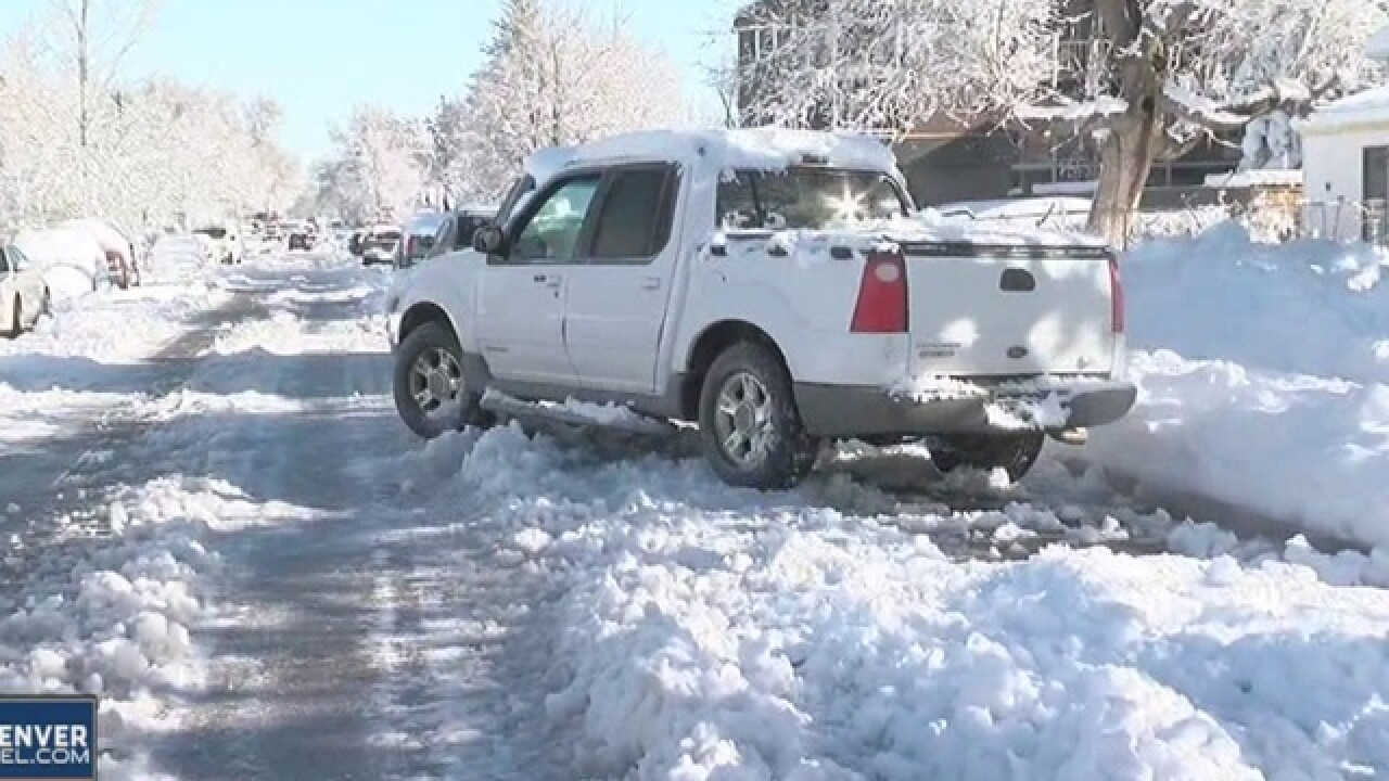 Neighborhood streets sloppy after blizzard
