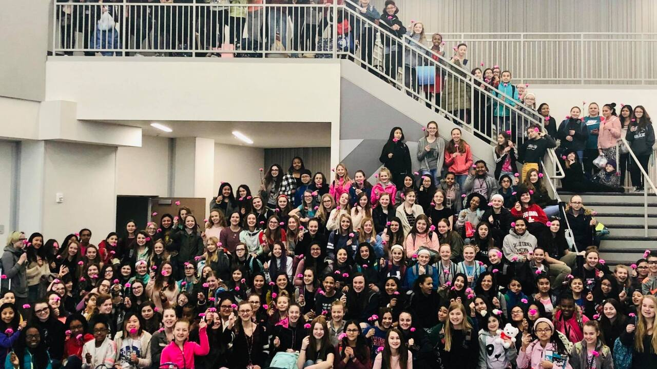 Olathe boys get flower for every girl at school on Valentine's Day