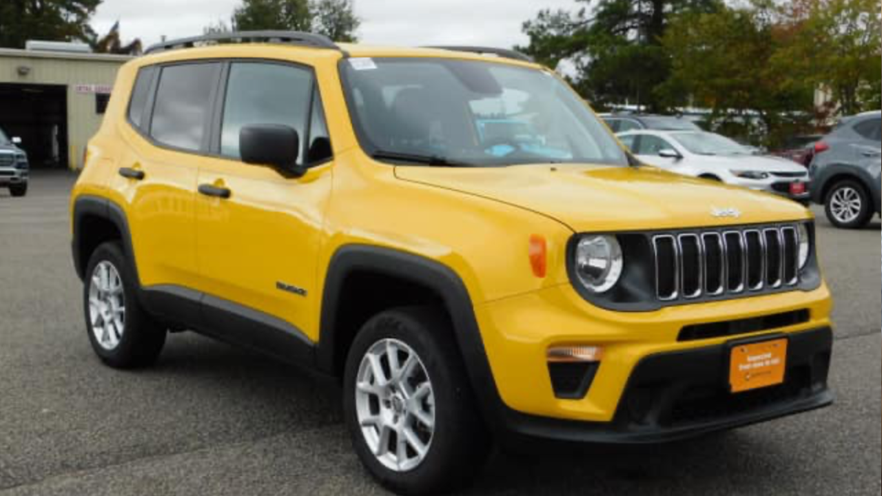 Yellow Jeep Renegade