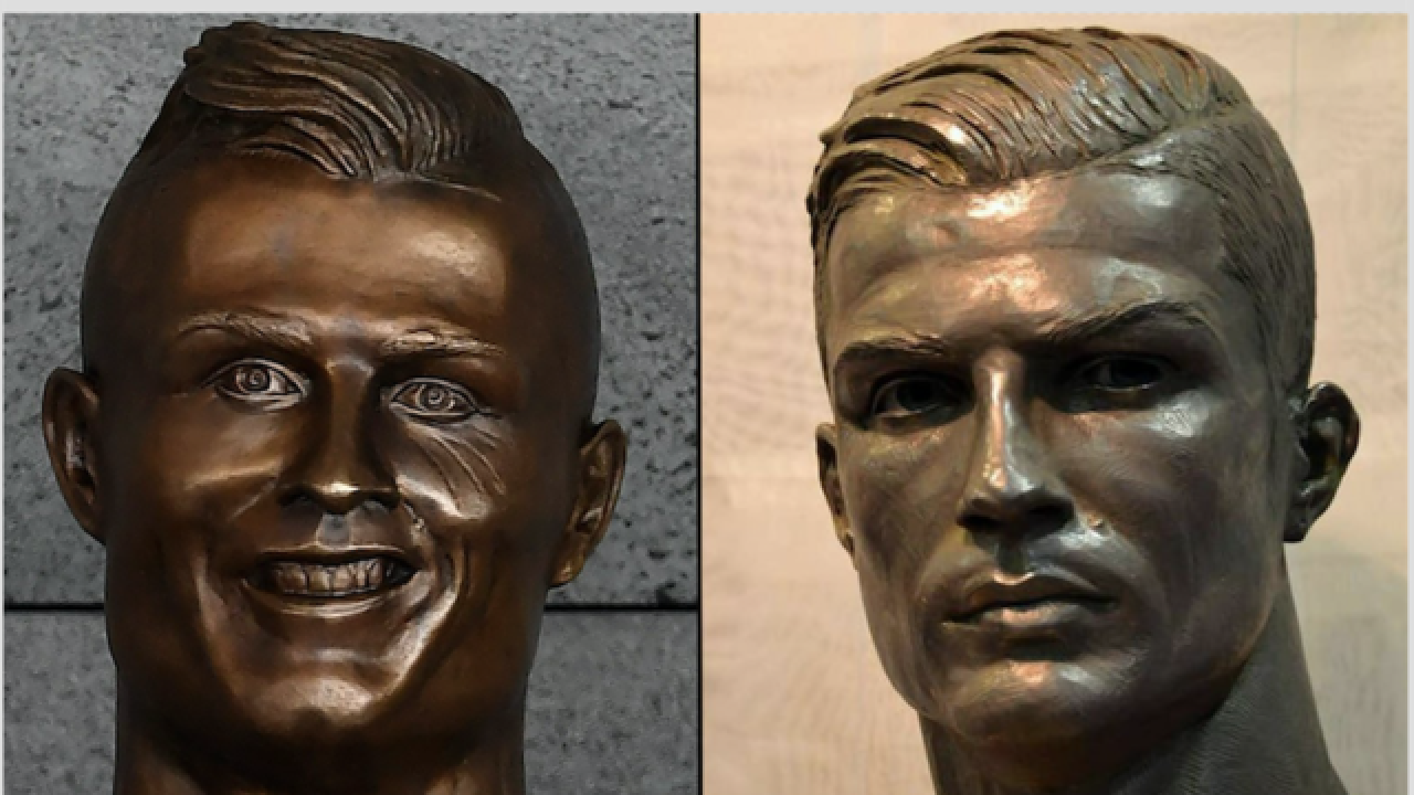 New Cristiano Ronaldo bust revealed that actually looks like him