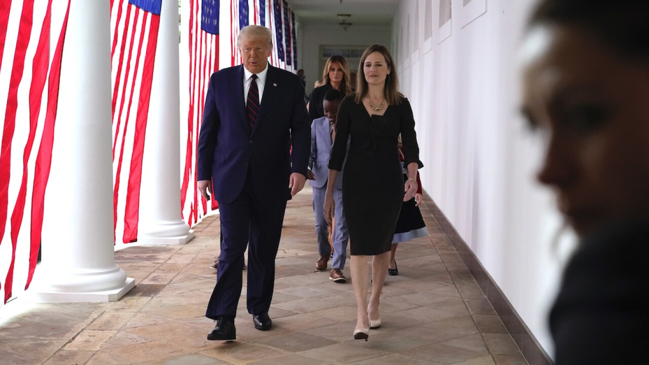 Donald Trump Amy Coney Barrett