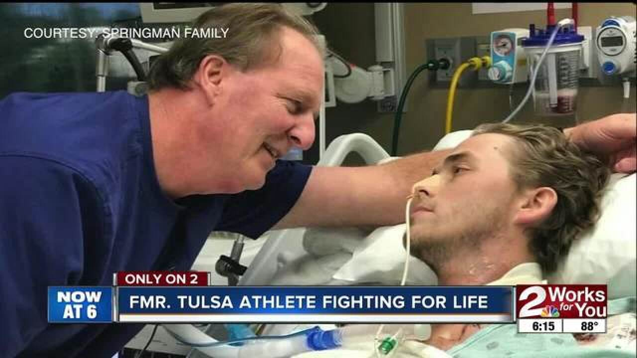 Holland Hall graduate fights for his life