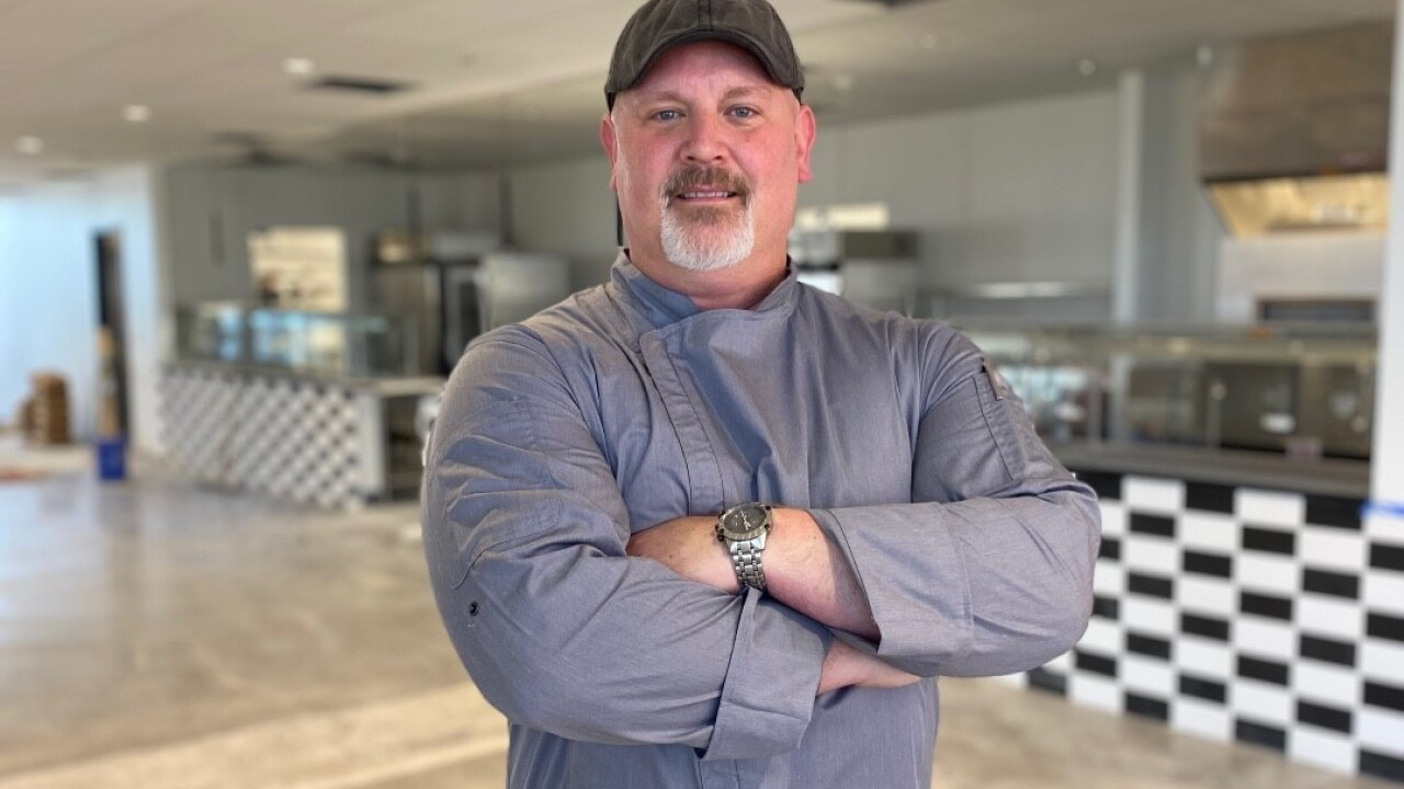 Chef Steven Meyers welcomes people to the new Seneca One Food Hall