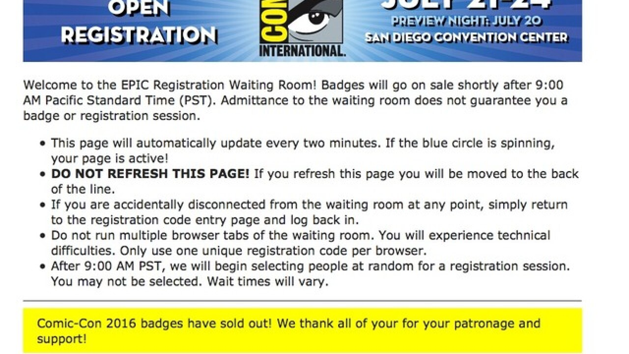 Comic-Con Russian roulette this Saturday