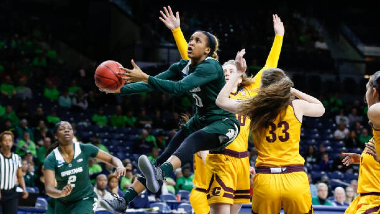 Shay Colley's late layup lifts Spartans over Chippewas in NCAA first round
