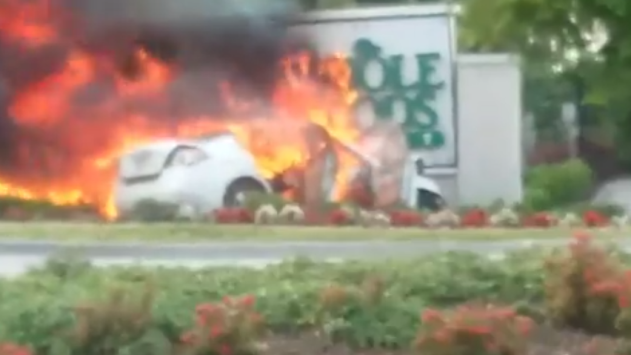 Fiery crash in Newport News caused by argument