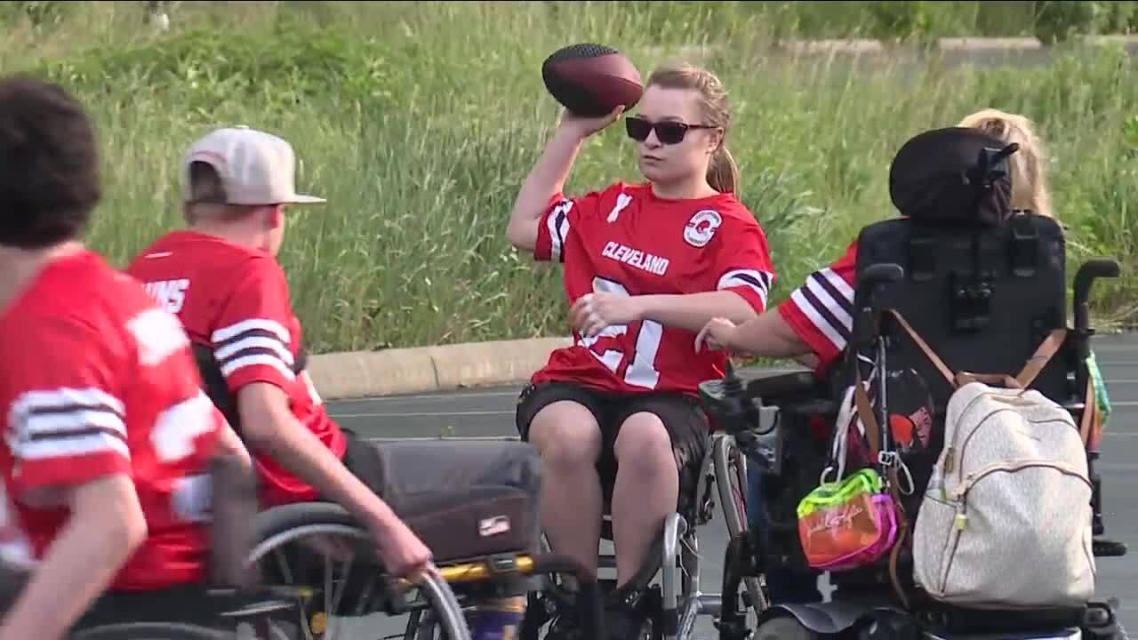 Cleveland Browns Adaptive Football League Camp Cheerful