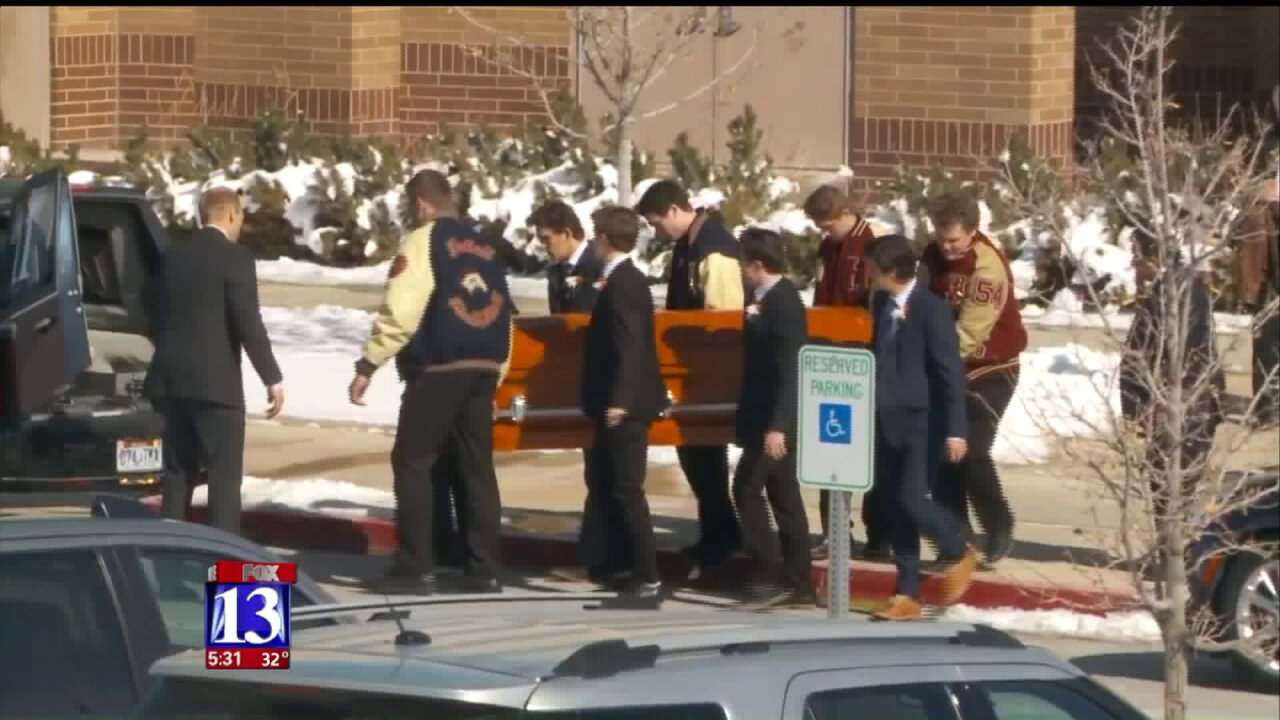 Loved ones gather at Herriman High as student killed in crash laid to rest