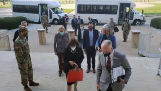 Congress people arrive at Fort Hood