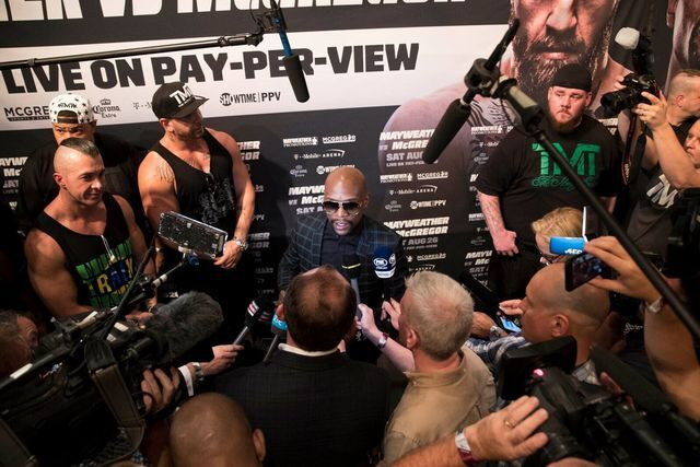 PHOTOS: The best of Mayweather vs. McGregor fight week