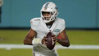 Miami Dolphins QB Tua Tagovailoa makes NFL debut