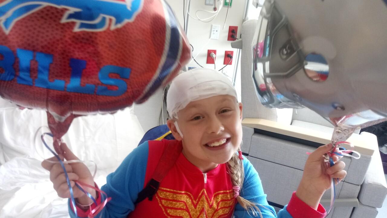 Buffalo Bills help young philanthropist's wish come true