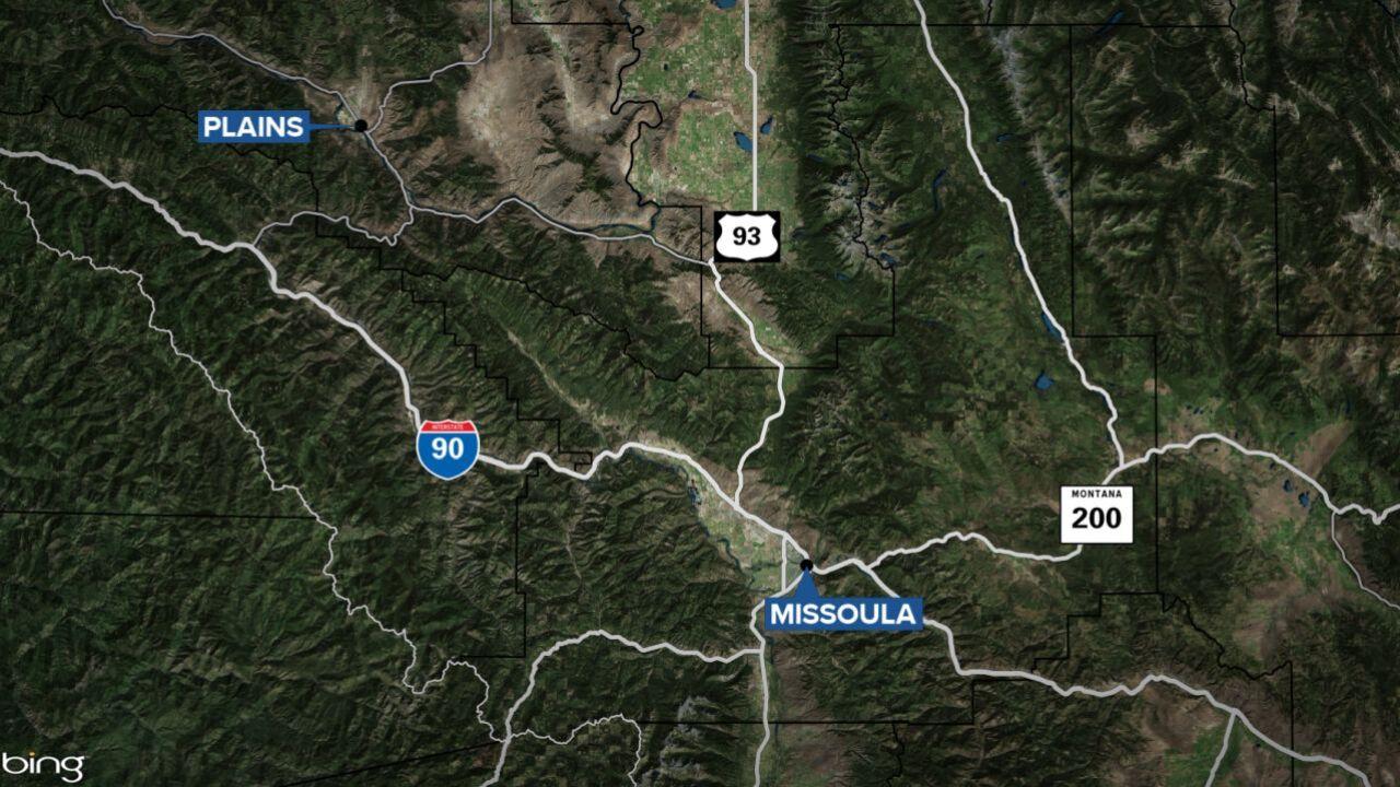 plains montana map
