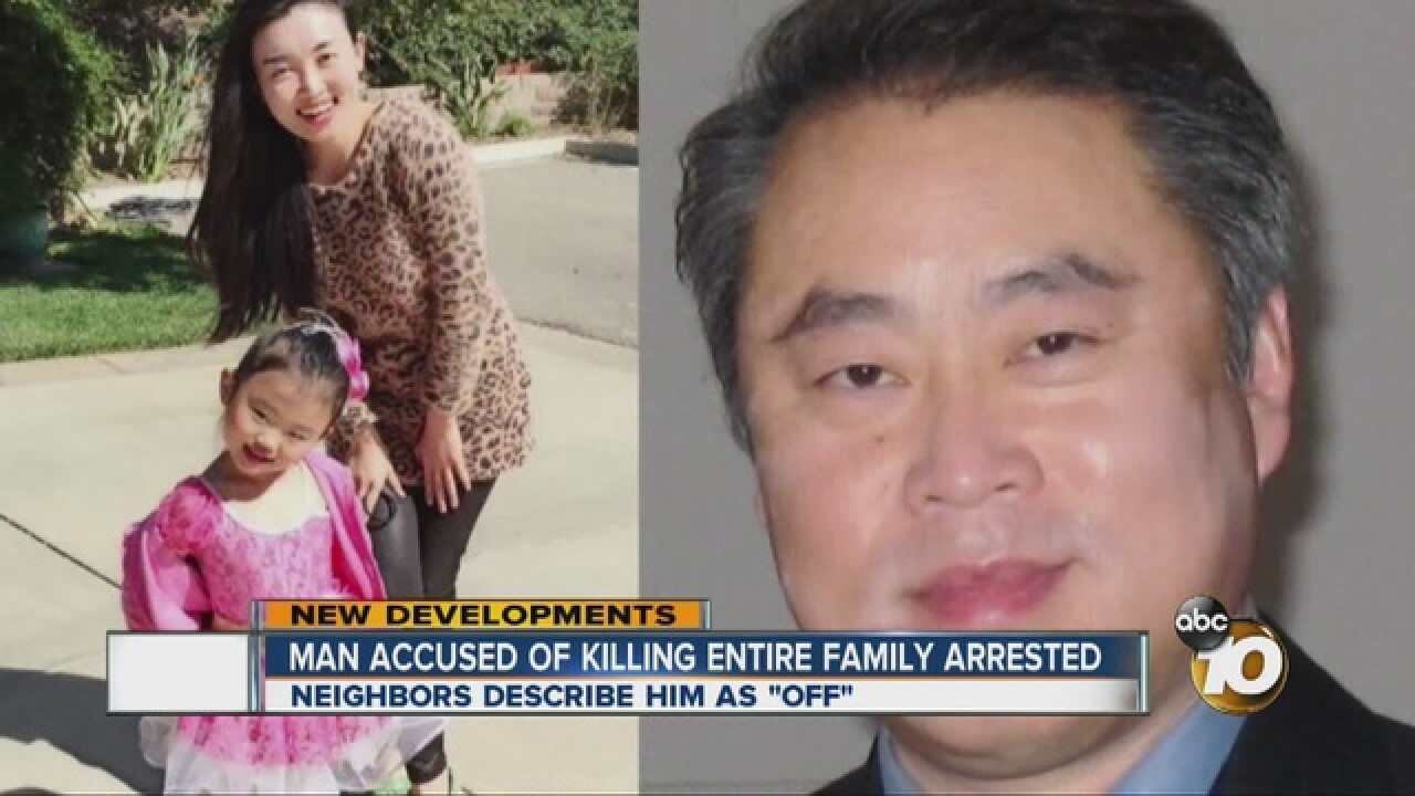 San Diego man arrested in triple murder