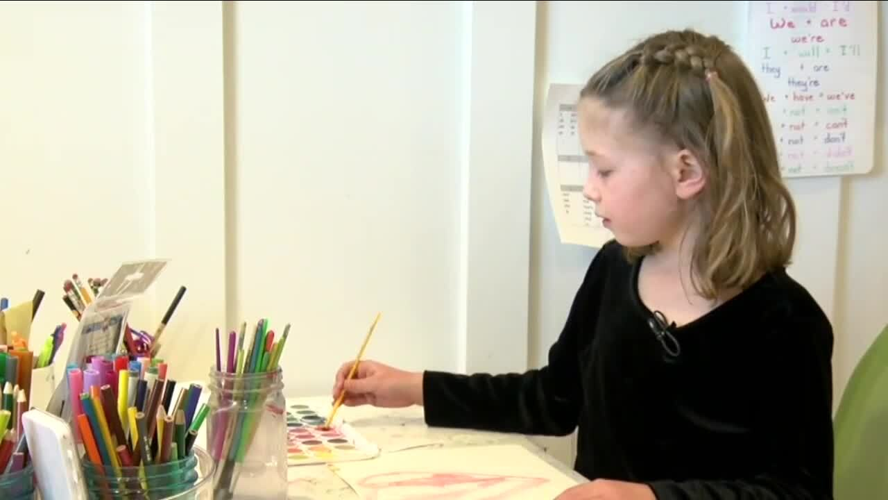 Littleton 6-year-old sells watercolor paintings to help area homeless