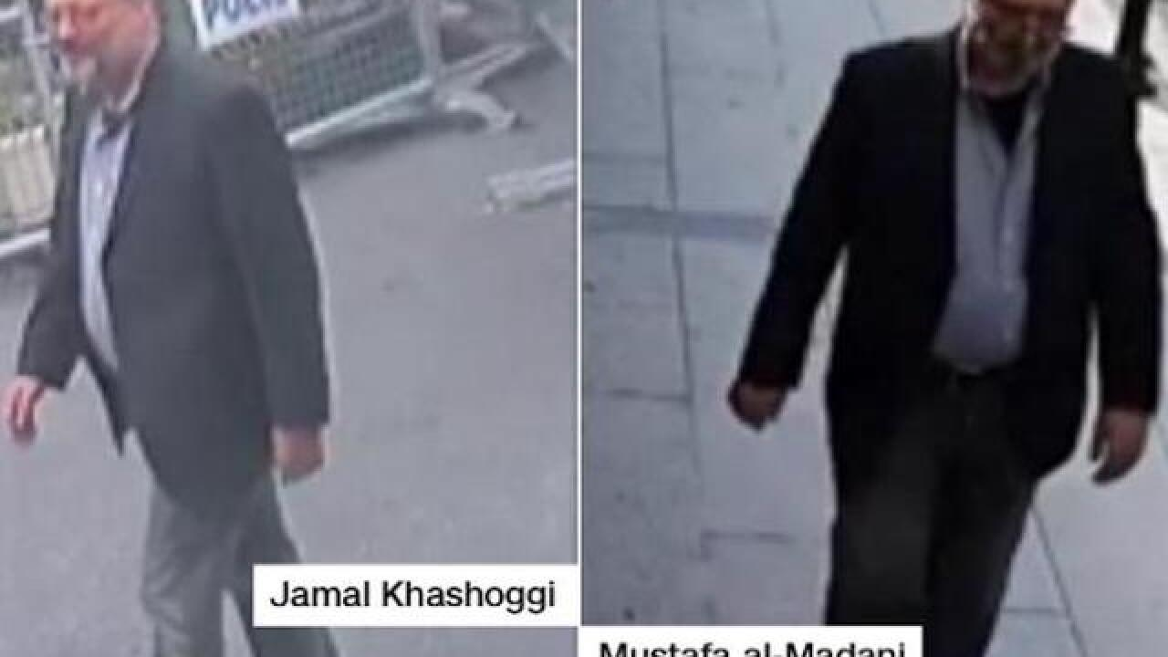 Surveillance footage: Saudi operative in Khashoggi's clothes after he was killed, source says