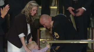 Soldier returns from deployment, surprises family at State of the Union