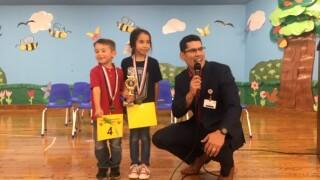 Dawson Elementary School spelling bee winners