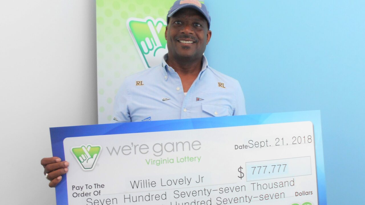Chesapeake man wins $777,777 on his lunch break