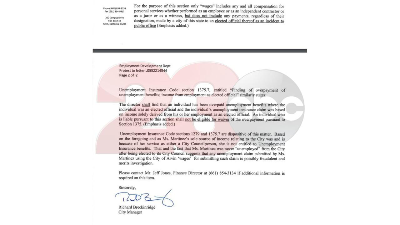 Martinez EDD Letter 2