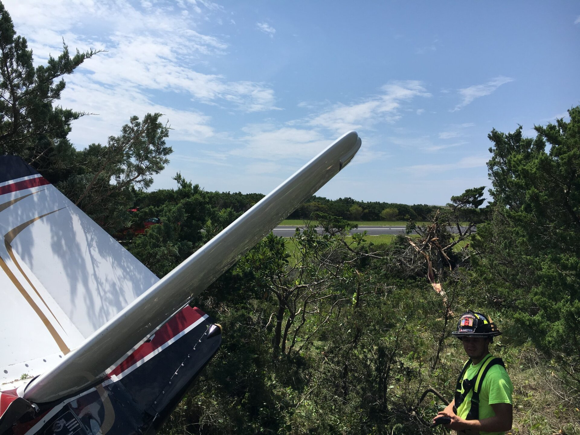 Photos: Pilot crash-lands plane near Cape Hatteras airport
