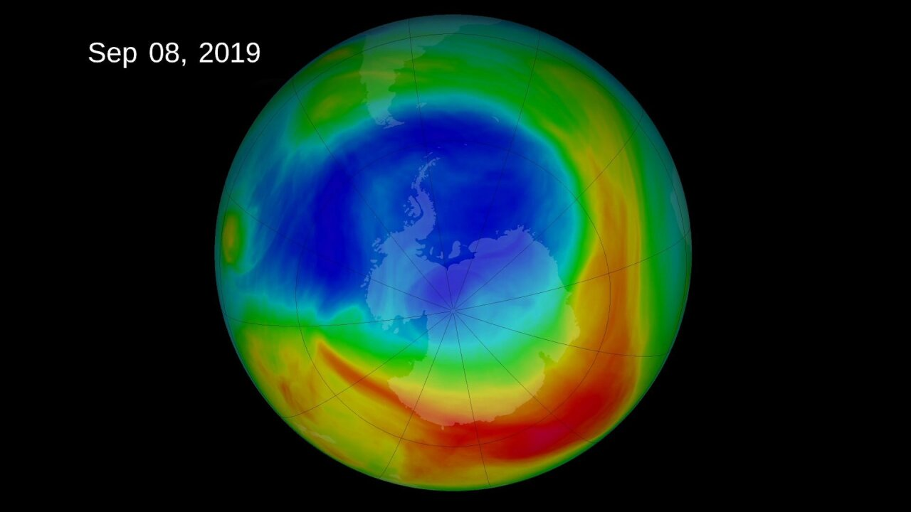 Ozone hole over Antarctic is the smallest since its discovery