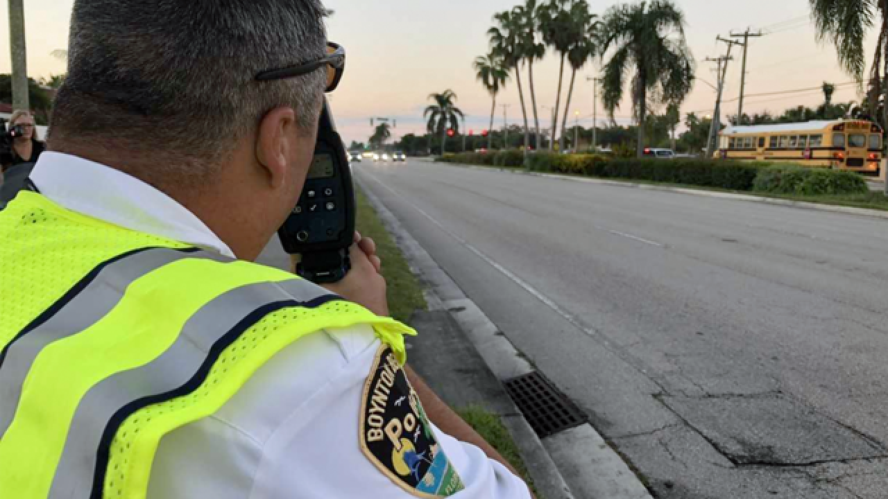 School zone speeders beware in Boynton Beach