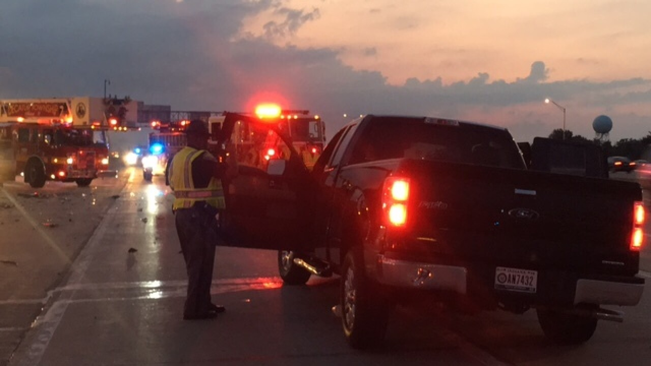 Woman killed in I-70 crash near airport