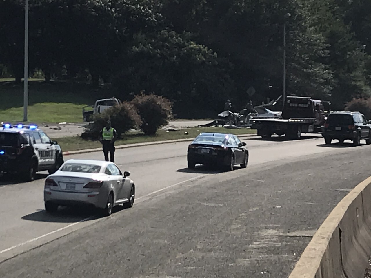 Photos: 2 hospitalized after crash at Huguenot Road and Chippenham Parkway
