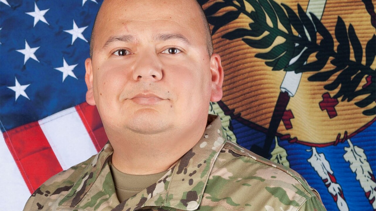 Oklahoma Army National Guard Sgt. Pedro Gonzales, III
