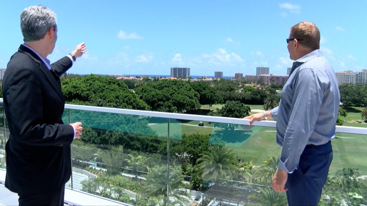 Boca Raton mayor Scott Singer tours the new condominium, Alina Residences.
