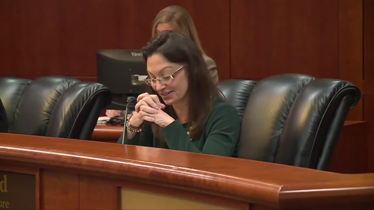 Nikki Fried smirks during clemency board meeting