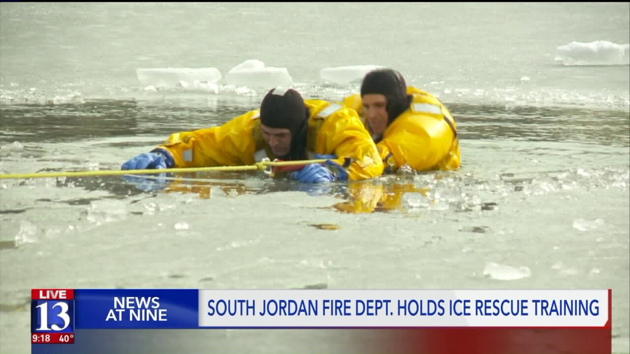 How long does an ice rescue take? Fox 13 reporter puts a Utah fire department to the test