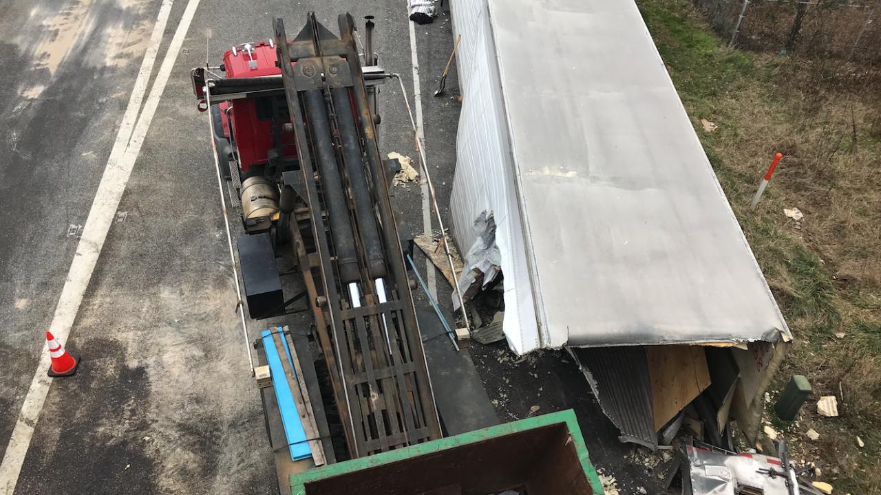 I-95/MD 32 Tractor Trailer Crash Jan 31, 2020