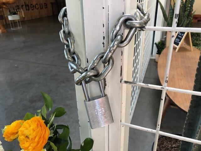 Locked storefront
