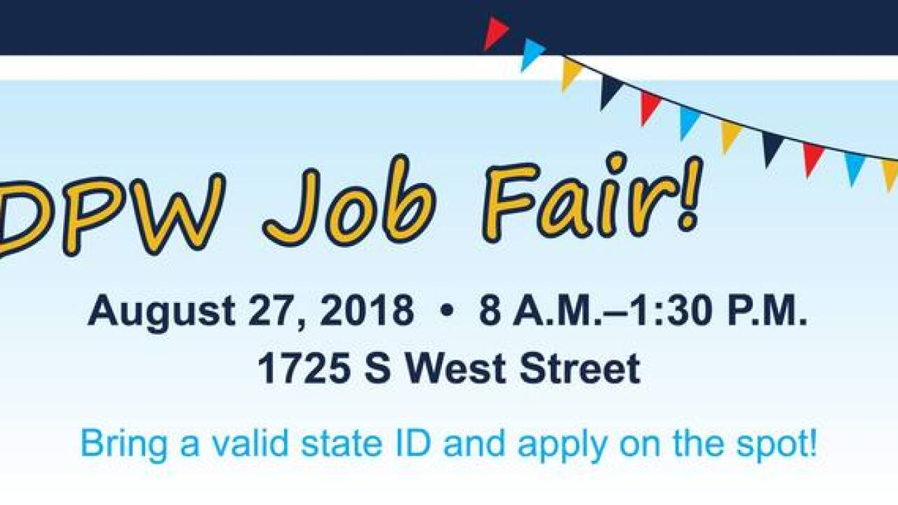 Indy DPW to host job fair for available positions