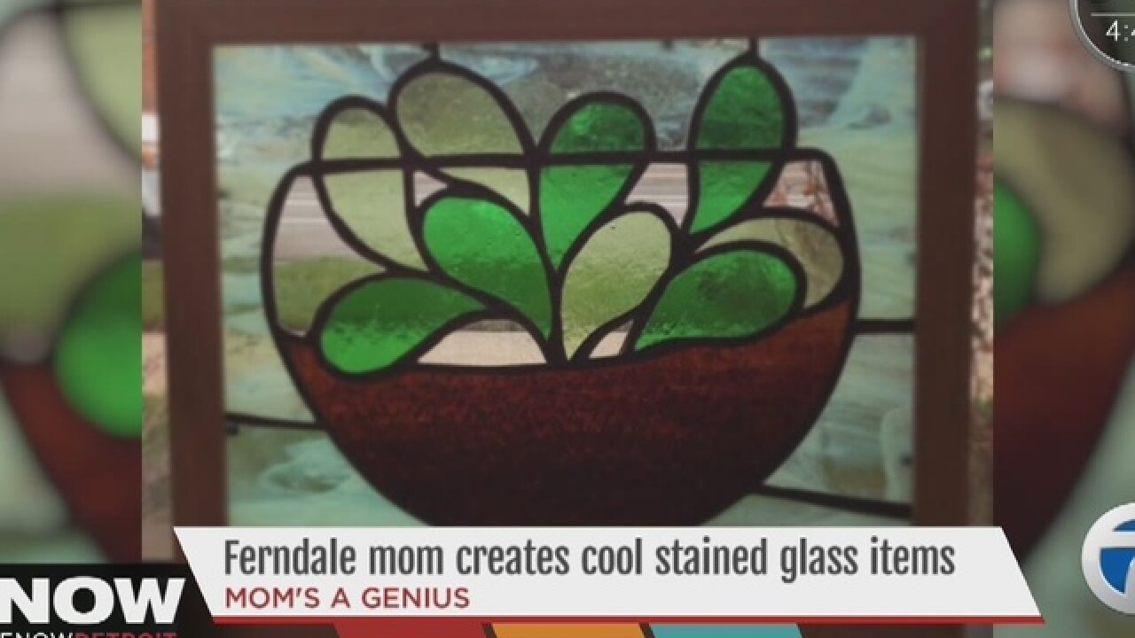 Mom makes cool & affordable stained glass items