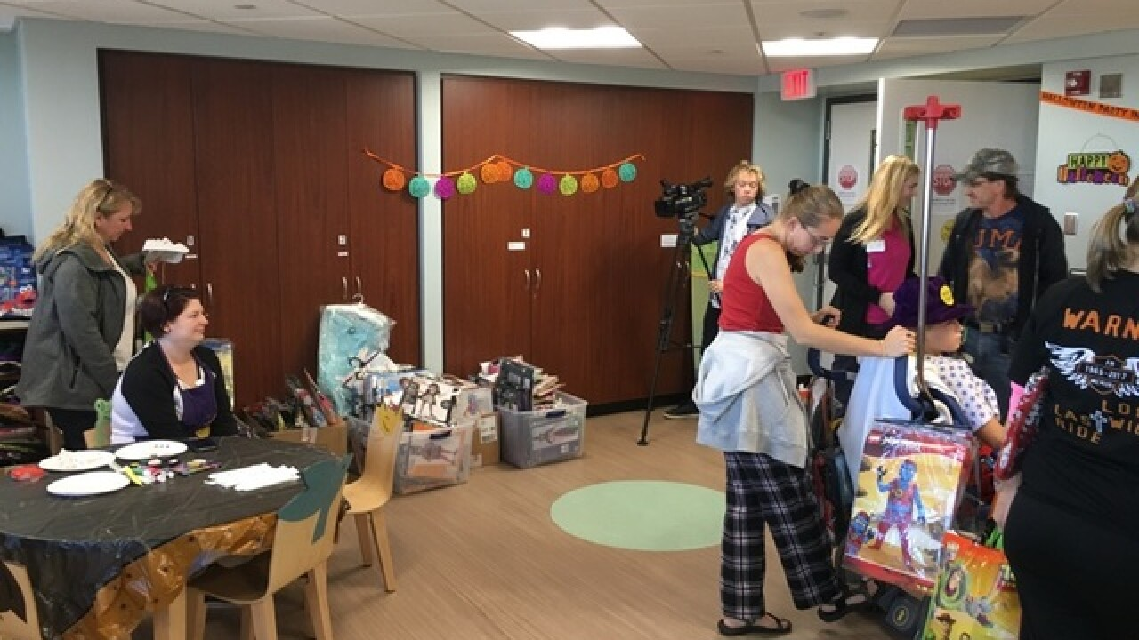 Halloween shop hosts party for Sparrow patients