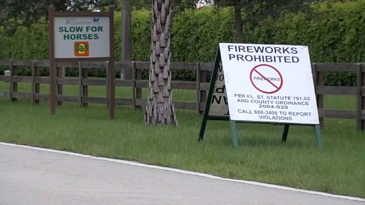 Wellington Fireworks law sign